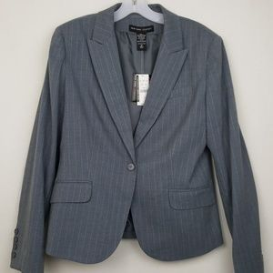 NEW New York & Co Gray Pinstripe Stretch Blazer/12
